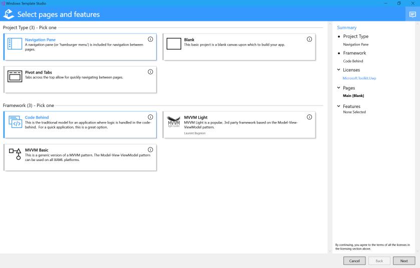 WindowsTemplateStudioWizard1