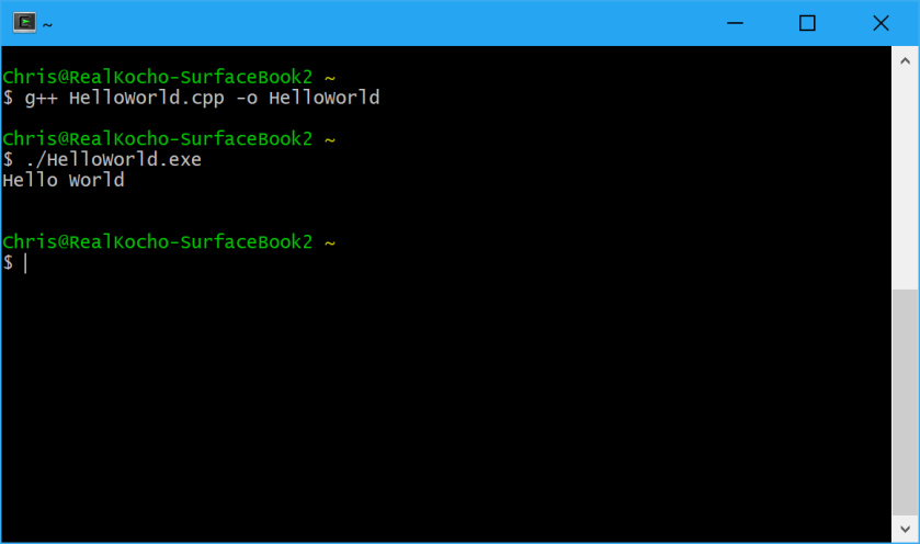 Cpp HelloWorld Terminal Compile And Run